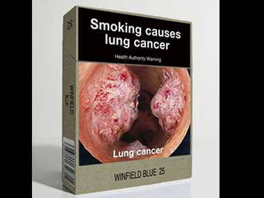 The pictorial design on cigarette packets. AFP
