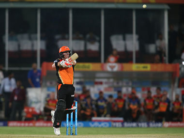 David Warner in action against Mumbai Indians. BCCI