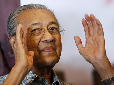 Former Prime Minister Mahathir Mohamad. Reuters image