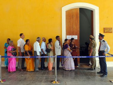 File image of Puducherry elections. AFP