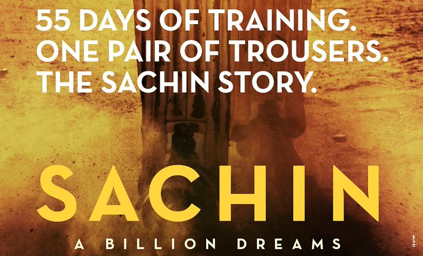 Sachin Tendulkar's documentary poster that was released on Twitter.