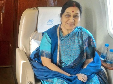 Sushma Swaraj. FIle photo. Twitter/@MEAIndia