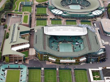 Aerial view of Wimbledon. Getty Images