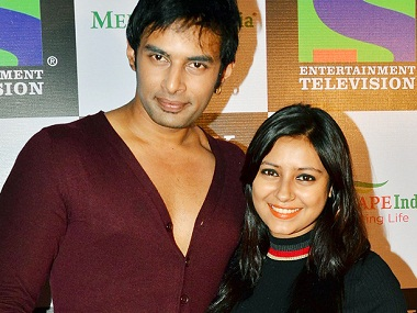 Rahul Raj Singh with Pratyusha Banerjee. Image from IBNlive