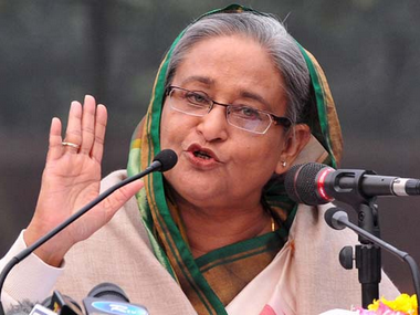A file photo of Bangladesh Prime Minister Sheikh Hasina. PTI