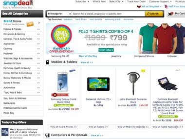 A screengrab of Snapdeal