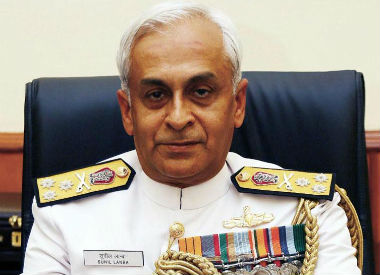 Indian Navy Chief Sunil Lanba. File photo. CNN-News18