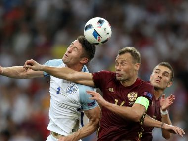 File photo of the England versus Russia match. AFP