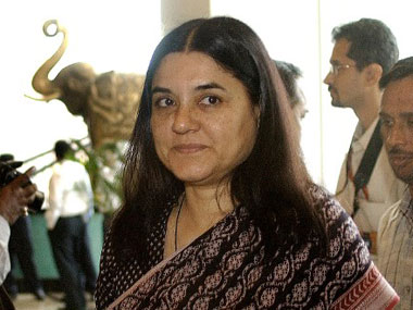 A file photo of Maneka Gandhi. AFP
