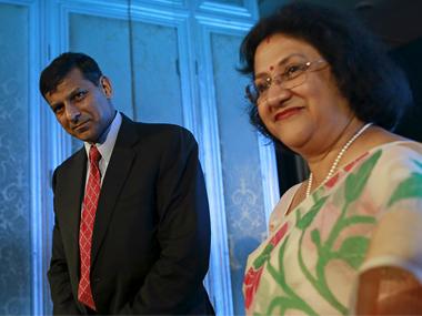 Raghuram Rajan and Arundhati Bhattacharya