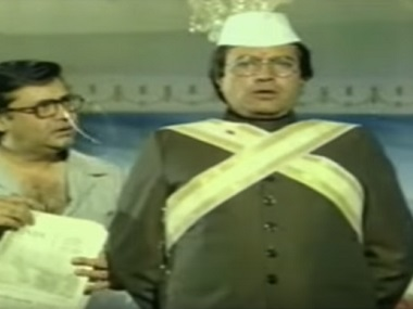 Rajesh Khanna and Deven Varma in Aaj Ka MLA Ram Avtar. Screengrab from YouTube
