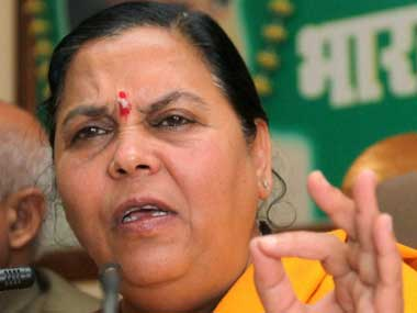 Union Water Resources Minister Uma Bharti. PTI