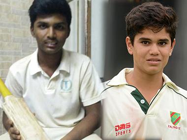 Pranav Dhanawade (L) and Arjun Tendulkar