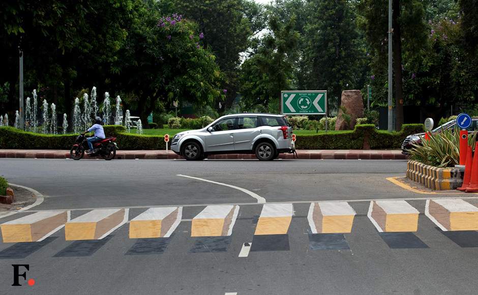 The first set of 3D zebra crossings has made it to Delhi. At Rajaji Road, the painting gives the impression of the zebra crossing rising above the road. 3D zebra crossings is an initiative by the New Delhi Municipal Corporation and Delhi Street Art. The NDMC hopes that this will compel speeding motorists to stop, reports The Hindu. Naresh Sharma/Firstpost