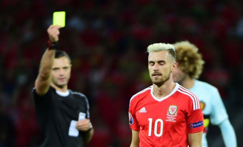 Aaron Ramsey has been inspirational in the Welsh midfield so far in this tournament. AFP