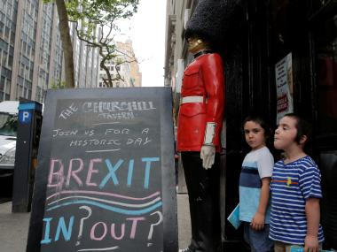 The Brexit referendum took place on 22 June. Representational image. Reuters