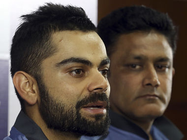 Indian Test Skipper Virat Kohli speaks at a press conference at Bengaluru. AP