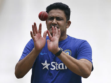Anil Kumble at a training session at National Cricket Academy in Bengaluru. AP