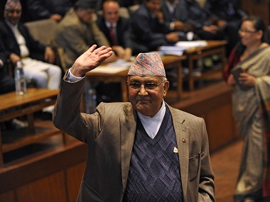 A file photo of KP Oli. AFP