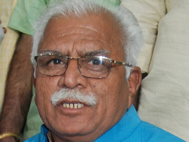 A file image of Haryana CM Manohar Lal Khattar. PTI