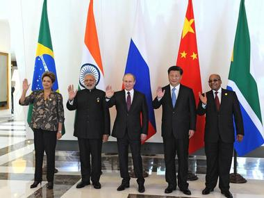 A file photo of leaders of the Brics nations. Reuters
