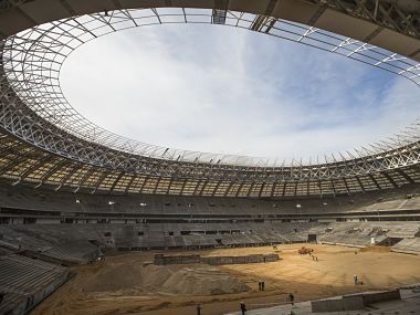 2018 World Cup in Moscow, Russia. AP