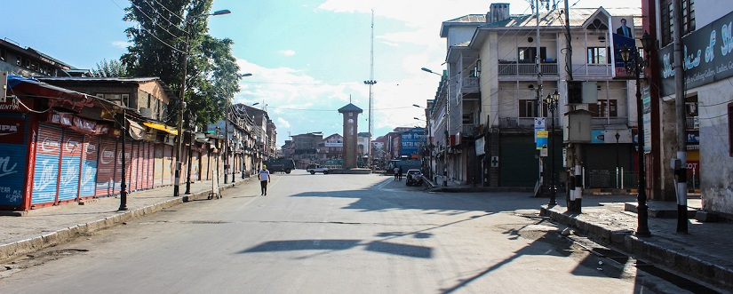 The historic Clock Tower in Srinagar's central Lal Chowk area. Firstpost/Sameer Yasir