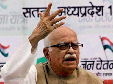 A file image of veteran BJP leader LK Advani. PTI