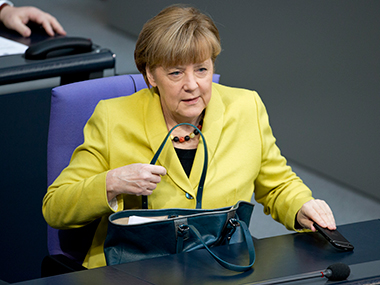 File photo of Germany's Chancellor Angela Merkel. AP