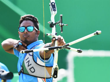 Atanu Das in action on Day 4 of the Rio Olympics. PTI