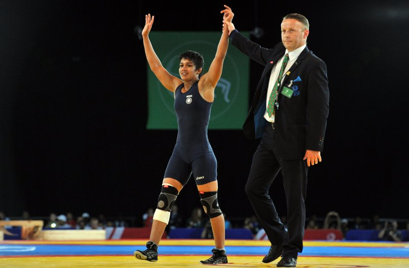 File photo of Babita Kumari at the Olympics. AFP