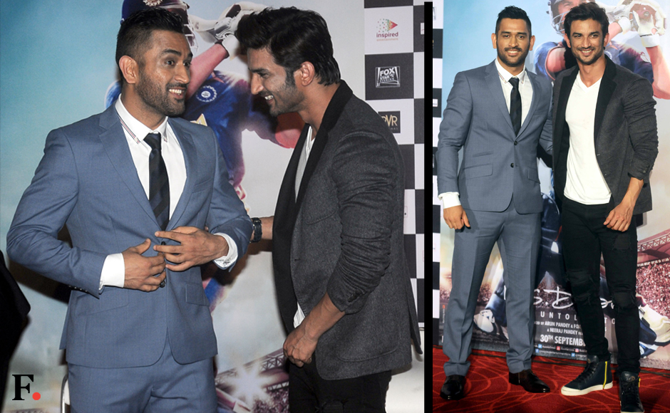 Mirror images: MS Dhoni and Sushant Singh Rajput looking quite similat to one another. Sachin Gokhale/Firstpost