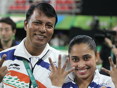 Dipa Karmakar after finishing 4th in the Vault finals of Artistic Gymnastics. Norris Pritam/Firstpost
