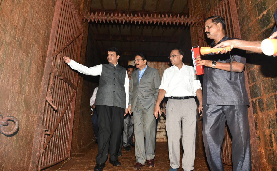 A forgotten 150-metre long, underground British-era bunker was unearthed inside the sprawling Raj Bhavan complex at Malabar Hill in south Mumbai, an official said on Tuesday. Image: CMO