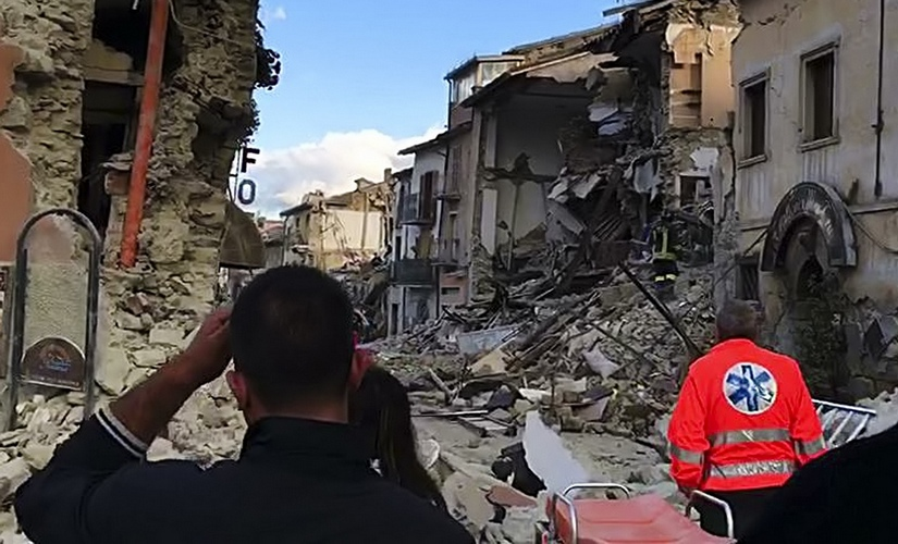 Amatrice, central Italy, was reduced to rubble after where a 6.1 earthquake struck just after 3:30 a.m., Wednesday. AP
