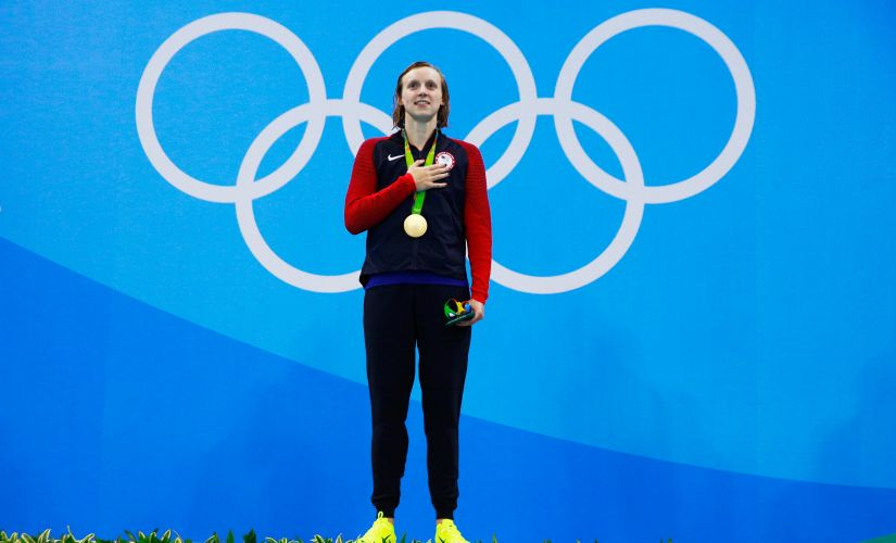 File photo of Katie Ledecky. Getty Images