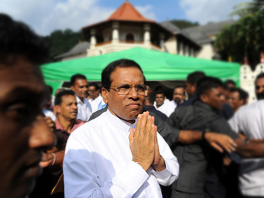 A file photo of Maithripala Sirisena. AFP