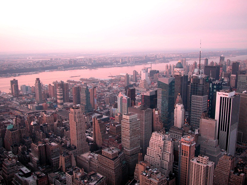 Sunset view from Empire State Building. Photo courtesy Bob Dole/Freeimages