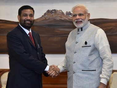 Bimlendra Nidhi, Nepal's deputy PM and special envoy to India met PM Modi on Saturday