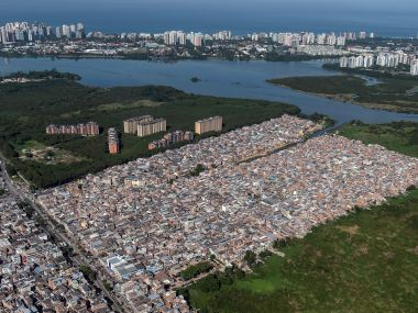 Aerial view of Rio favelas in northern part of the city. AFP