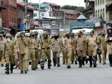 Security officials in Kashmir. File photo. PTI