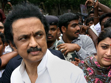DMK chief and Tamil Nadu's Leader of Opposition MK Stalin . PTI