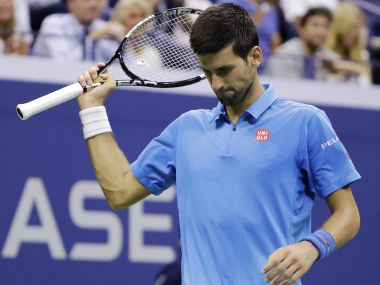 Novak Djokovic during the US Open final. AP