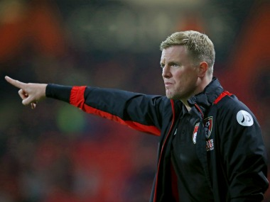 Eddie Howe looks on during the match between AFC Bournemouth and Preston North End. Getty