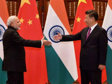 PM Modi meets Chinese President Xi Jinping at the G20 summit. PTI