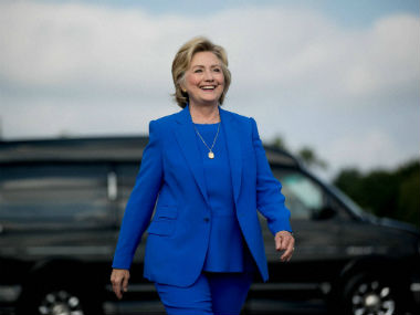 File image of Democratic presidential candidate Hillary Clinton. AP