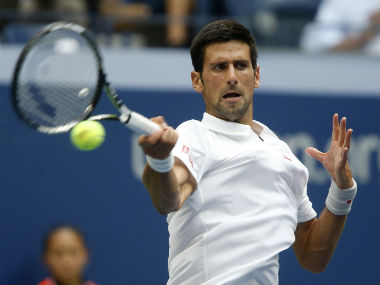 Novak Djokovic in action during the third round fixture of the US Open. AP