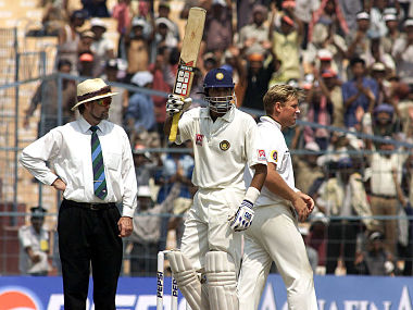 VVS Laxman of India reaches 150 during day four of the 2nd Test between India and Australia played at Eden Gardens, 14 Mar 2001. Getty