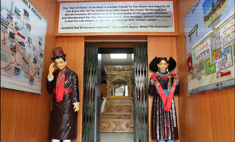 The entrance to Hall of Fame Museum in Leh. Photo: www.esamskriti.com