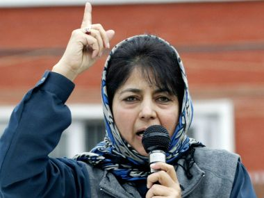 File photo of Mehbooba Mufti. AFP